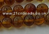 CAR527 15.5 inches 7mm - 8mm round natural amber beads wholesale