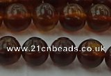 CAR528 15.5 inches 8mm - 9mm round natural amber beads wholesale