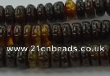 CAR533 15.5 inches 4*10mm rondelle natural amber beads wholesale