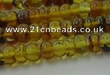 CAR537 15.5 inches 4*6mm rondelle natural amber beads wholesale