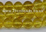 CAR557 15.5 inches 7mm - 8mm round natural amber beads wholesale