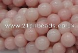 CAS05 15.5 inches 10mm round pink angel skin gemstone beads