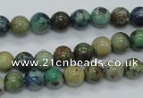 CAZ08 15.5 inches 8mm round natural azurite gemstone beads
