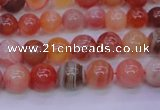 CBC401 15.5 inches 6mm A grade round orange chalcedony beads