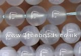 CBC711 15.5 inches 6mm round blue chalcedony beads wholesale