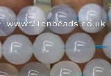 CBC712 15.5 inches 8mm round blue chalcedony beads wholesale