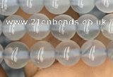 CBC731 15.5 inches 6mm round blue chalcedony beads wholesale