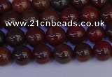 CBD351 15.5 inches 6mm round poppy jasper beads wholesale
