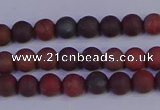 CBD360 15.5 inches 4mm round matte poppy jasper beads wholesale