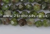 CBG108 15.5 inches 6mm faceted nuggets bronze green gemstone beads