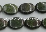 CBG15 15.5 inches 15*20mm oval bronze green gemstone beads wholesale