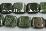 CBG17 15.5 inches 18*18mm square bronze green gemstone beads wholesale