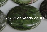 CBG32 15.5 inches 30*40mm oval bronze green gemstone beads