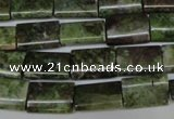 CBG50 15.5 inches 10*14mm flat tube bronze green gemstone beads