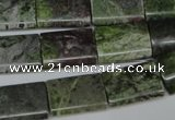 CBG52 15.5 inches 13*18mm flat tube bronze green gemstone beads