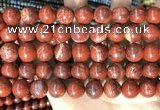 CBJ393 15.5 inches 12mm round brecciated jasper beads wholesale