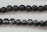 CBJ501 15.5 inches 4mm round black jade beads wholesale