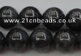 CBJ658 15.5 inches 10mm round black jade beads wholesale