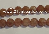 CBQ09 15.5 inches 8mm faceted round strawberry quartz beads