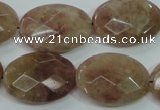 CBQ254 15.5 inches 18*25mm faceted oval strawberry quartz beads