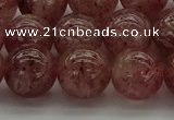 CBQ304 15.5 inches 12mm round natural strawberry quartz beads
