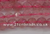 CBQ437 15.5 inches 8mm faceted nuggets strawberry quartz beads