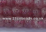 CBQ440 15.5 inches 8*11mm drum lavender strawberry quartz beads