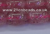 CBQ450 15.5 inches 15*20mm drum strawberry quartz beads