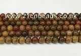 CBQ737 15.5 inches 8mm round natural chrysotine beads wholesale