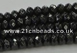 CBS532 15.5 inches 3*5mm faceted rondelle black spinel beads