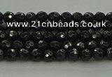 CBS534 15.5 inches 3mm faceted round black spinel beads