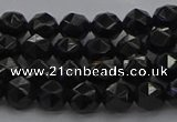 CBS536 15.5 inches 6mm faceted round black spinel beads