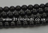 CBS539 15.5 inches 4mm round black spinel beads wholesale