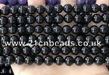 CBS542 15.5 inches 8mm round black spinel gemstone beads