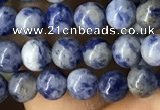 CBS600 15.5 inches 4mm round blue spot stone beads wholesale