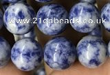 CBS603 15.5 inches 10mm round blue spot stone beads wholesale