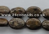 CBZ306 15.5 inches 15*20mm oval bronzite gemstone beads wholesale