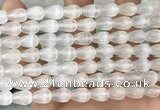 CCA377 15.5 inches 7*10mm teardrop white calcite gemstone beads