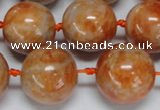 CCA456 15.5 inches 16mm round orange calcite gemstone beads