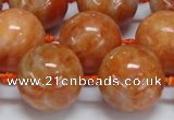 CCA457 15.5 inches 18mm round orange calcite gemstone beads