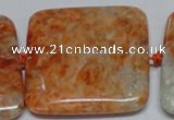 CCA497 15.5 inches 40mm square orange calcite gemstone beads