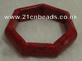 CCB104 7.5 inches red coral bracelet jewelry wholesale