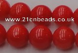 CCB127 15.5 inches 9mm round red coral beads strand wholesale