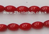 CCB133 15.5 inches 5*7mm rice red coral beads strand wholesale