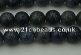 CCB451 15.5 inches 6mm round blue coral beads wholesale