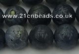 CCB455 15.5 inches 14mm round blue coral beads wholesale