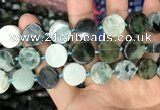 CCB505 15.5 inches 14mm coin jade gemstone beads wholesale