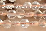 CCB535 15.5 inches 4mm faceted coin citrine gemstone beads