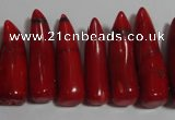 CCB66 16 inches horn shape red coral beads Wholesale