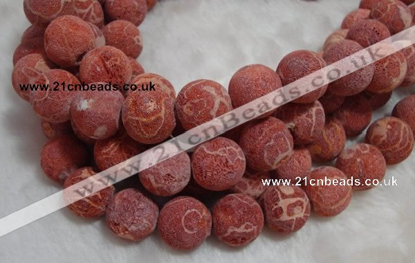 CCB72 16 inches 19mm round sponge coral beads Wholesale